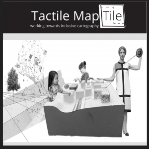 Tactile MapTile employs a unique tactile based representation of various features in a map to enhance the spatial understanding for people with broad visual capacities. Each feature is represented by a differet texture and pattern tactile design. Users can generate and customize a 3D map model based on their choice of location, and which features to include.